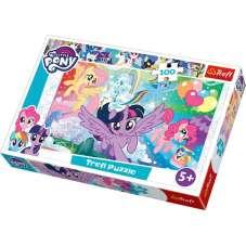 Puzzle 100 -  Tęczowa kraina My little pony