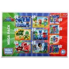 Puzzle 10w1 - Dzielni Pidżamersi