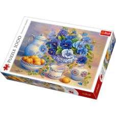Puzzle 1000 - Niebieski bukiet