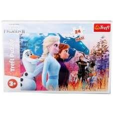 Puzzle 24 maxi - Frozen II magiczna wyprawa