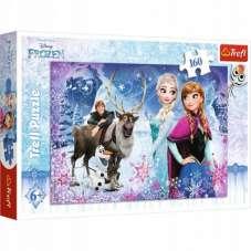 Puzzle 160 - Zimowe przygody Frozen