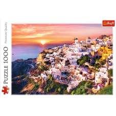 Puzzle 1000 - Zachód słońca nad Santorini