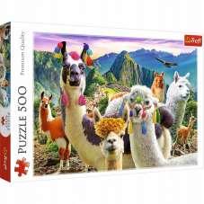Puzzle 500 - Lamy w górach