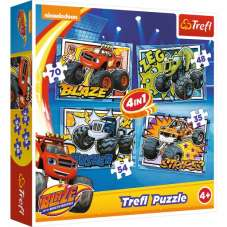 Puzzle 4w1 - Blaze i jego przyjaciele