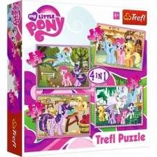 Puzzle 4w1 - My little Pony wakacje kucyków