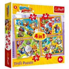 Puzzle 4w1 - Super Zings bohaterowie 4