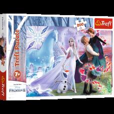 Puzzle 200 - Magiczny świat sióstr frozen