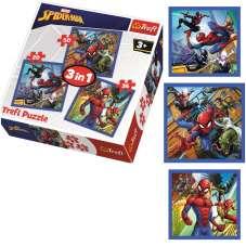 Puzzle 3w1 - Pajęcza siła Spiderman