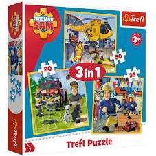 Puzzle 3w1 - Strażak Sam w akcji