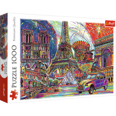 Puzzle 1000 - Kolory Paryża