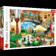 Puzzle 2000 - Widok na Barcelonę