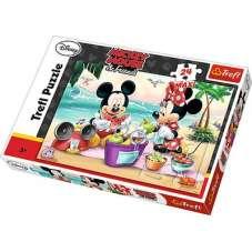 Puzzle 24 maxi - Piknik na Plaży myszka Miki
