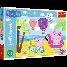 Puzzle 24 maxi - Świnka Peppa na wakacjach