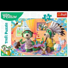Puzzle 24 maxi - Rodzina Treflików