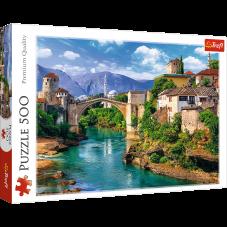 Puzzle 500 - Stary most w Mostarze, Bośnia i...