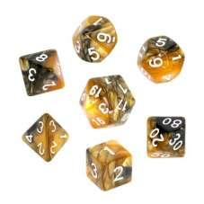 Komplet kości REBEL RPG - Dwukolorowe -...