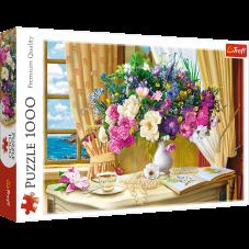 Puzzle 1000 - Kwiaty o poranku