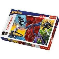 Puzzle 100 -  Do góry nogami Spider-man