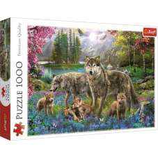Puzzle 1000 - Wilcza rodzina