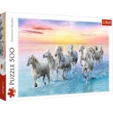 Puzzle 500 - Białe konie w galopie