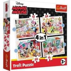Puzzle 4w1 - Minnie z przyjaciółmi