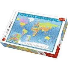 Puzzle 2000 - Polityczna mapa świata