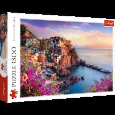 Puzzle 1500 - Widok na miasteczko Manarola