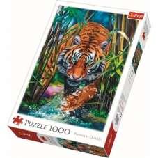 Puzzle 1000 - Drapieżny Tygrys