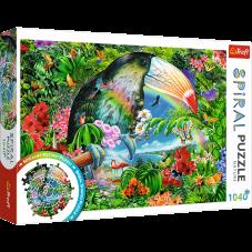 Puzzle 1040 - Spiral Tropikalne zwierzęta