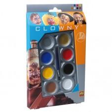 Farby wodne do malowania twarzy  CLOWNY BASIC -...