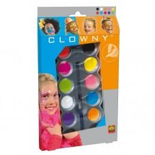 Farby wodne do malowania twarzy  CLOWNY TRENDY...