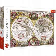 Puzzle 2000 Mapa Ziemi