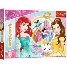 Puzzle 100 - Glitter Wspomnienia Belli i Arielki