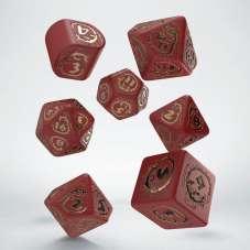Komplet kości Dragons: Czerwono-złote