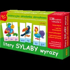 Litery sylaby wyrazy + Gratis Audiobook do wyboru