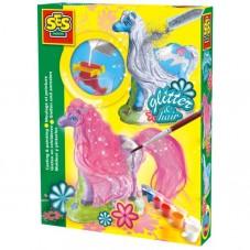 Lśniące koniki - odlew gipsowy 3D + brokat
