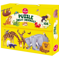 Puzzle - Świat zwierząt + Gratis Audiobook do...
