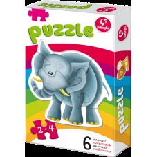 Moje pierwsze puzzle – Zwierzątka egzotyczne +...