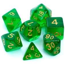 Komplet kości REBEL RPG - Kryształowe -...