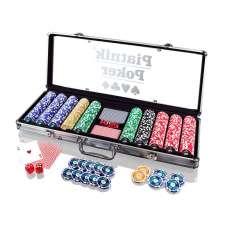 Piatnik Poker - Alu-Case - 500 żetonów 14g