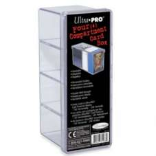 UP - 4-Compartment Card Storage Box - Clear